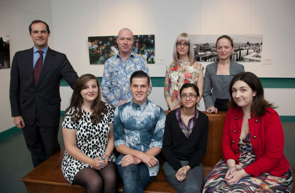 Acting Director Robert Wenley, BIAD lecturer Rob Gibb and the finalists.