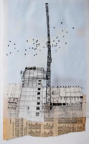 Above image:© Sarah Taylor Silverwood, Birmingham Skyline, 2012.
