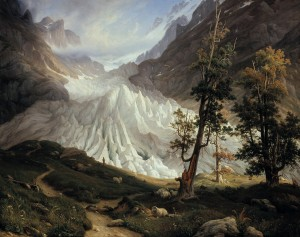 Thomas Fearnley, The Grindelwald Glacier, 1938. The National Museum of Art, Architecture and Design, Oslo.