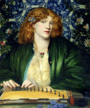 Dante Gabriel Rossetti, (1828 - 1882), The Blue Bower, 1865, oil on canvas