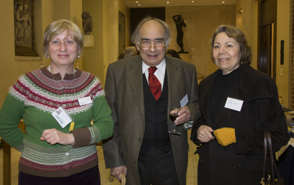 Nicola Kalinsky, Director, with Magdi and Daisy Obeid, Patrons of the Barber Institute
