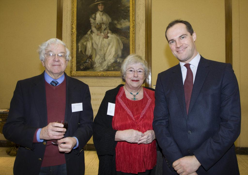 Professor John Nelson, Rosslyn Nelson and Robert Wenley, Deputy Director