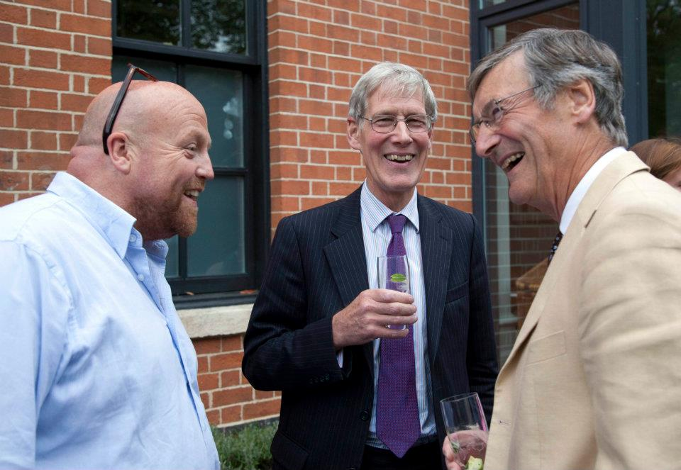 Aidan Keane, Hugh Carslake and Sir Dominic Cadbury