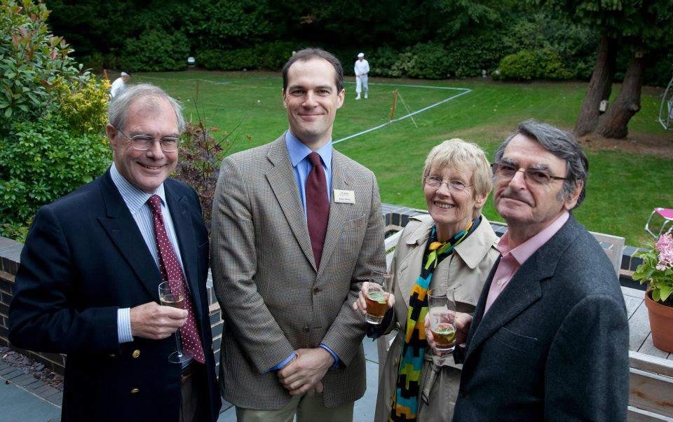 Ian Marshall, Robert Wenley, Mary and Professor David Lodge