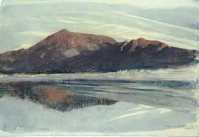 John Ruskin, Dawn, Coniston, 1873, (detail). © Lakeland Arts Trust.