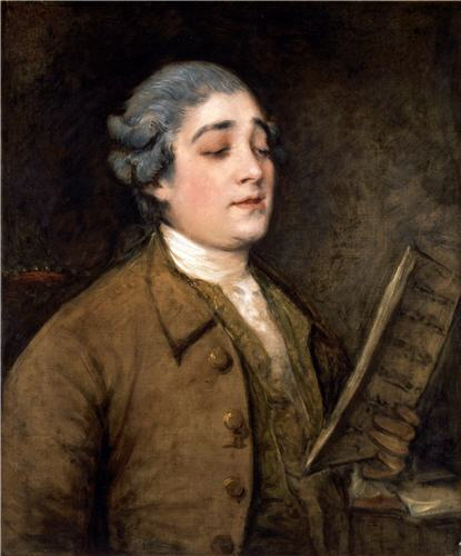'A Portrait of Giusto Ferdinando Tenducci' by Thomas Gainsborough.