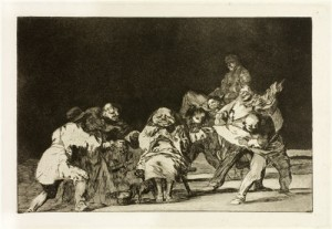 'Loyalty', plate 17 from 'The Proverbs' by Goya.