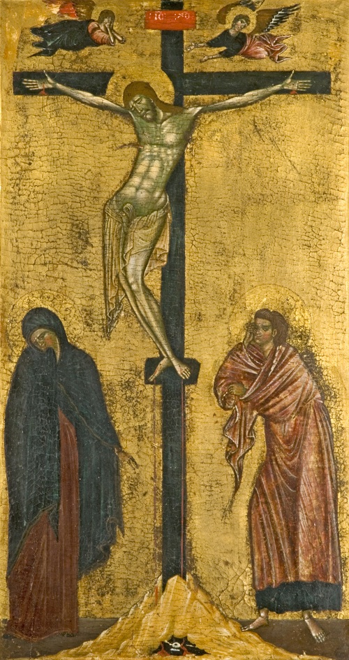 Tuscan, Crucifixion, Late 13th century. Tempera on wood, 50.8 x 27cm, acq. January 1939.