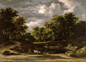 Jacob van Ruisdael (1628/9-82), A Wooded Landscape, Early 1660s. Oil on canvas, 61 x 84.5cm,  acq. November 1938