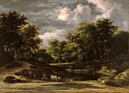 Jacob van Ruisdael (1628/9-82), A Wooded Landscape, Early 1660s. Oil on canvas, 61 x 84.5cm,  acq. November 1938
