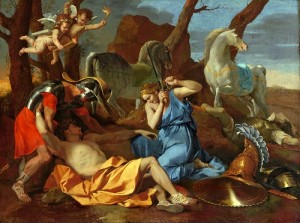 Nicolas Poussin (1594-1665), Tancred and Erminia, c1634. Oil on canvas, 75.5 x 99.7cm, acq. September 1938