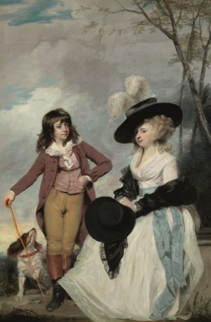 Sir Joshua Reynolds, Maria Marow Gideon (1767-1834) and her Brother, William (1775-1805)