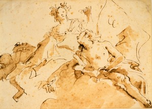 'Zephyrus and Flora' by Giovanni Battista Tiepolo