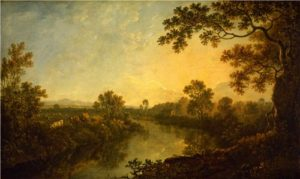 Richard Wilson, 1714-82, The River Dee, near Eaton Hall, c.1759-60, Oil on canvas, 54 x 88.6cm