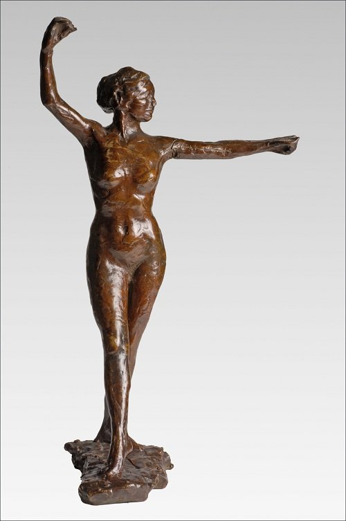 'Dancer Ready to Dance, Right Foot Forward', by Degas.