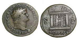 Bronze/copper as of Nero (54-68).