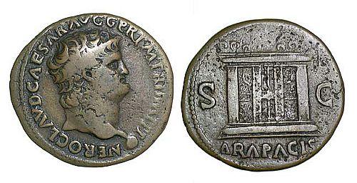 Bronze/copper as of Nero (54-68).
