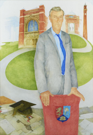'Portrait of Sir Dominic Cadbury', Jennifer McRae, 2013. © Research and Cultural Collections, No.A1149.