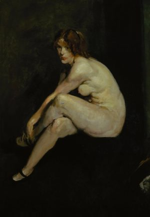 George Bellows, Nude Girl - Miss Leslie Hall, 1909, © Terra Foundation for American Art