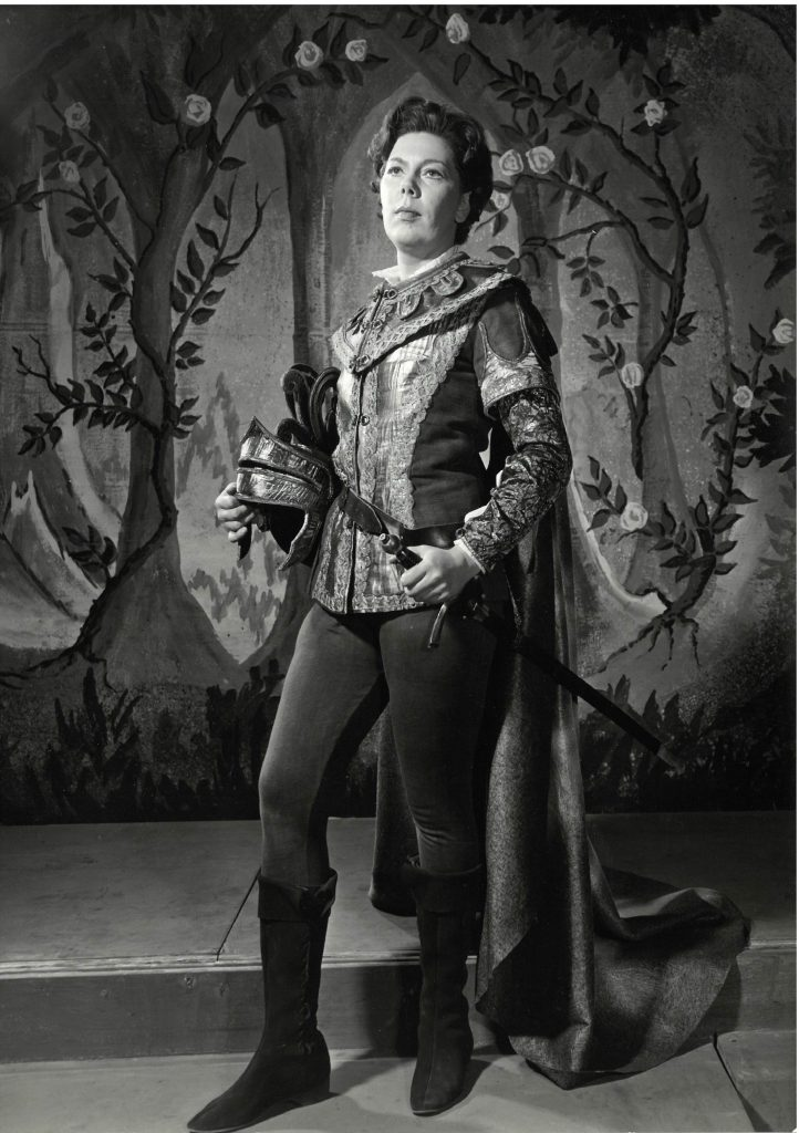 Janet Baker in the Barber Opera, photograph