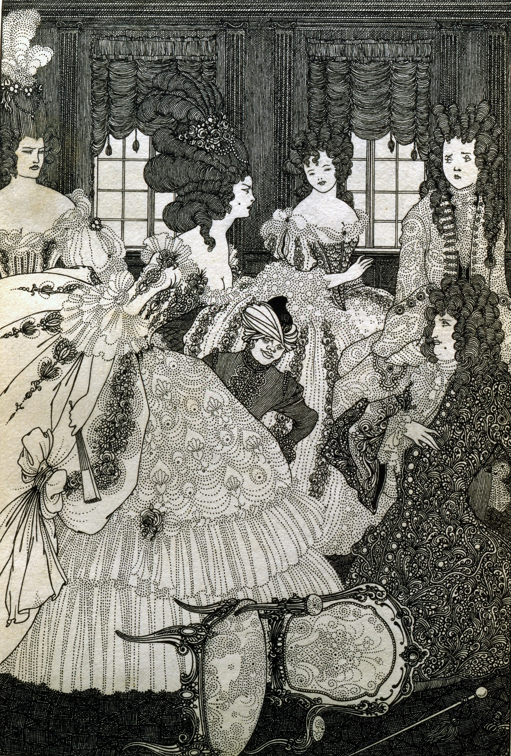 Image of The Battle of the Beaux and The Belles by Aubrey Beardsley, 1896