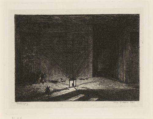 Charles-François Daubigny, 'Interior of an Inn', 1861.