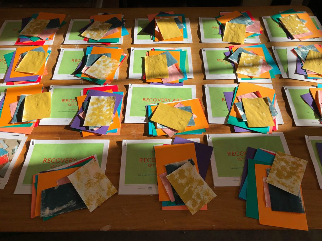 Compiling packs ready for postage